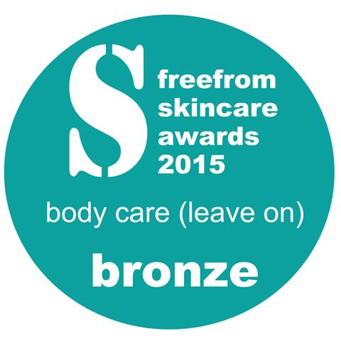Free From Skincare Awards 2015 Bronze Logo
